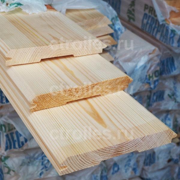 Имитация бруса сосна/ель 135 x 22 мм